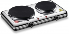 Homeleader Hot Plate for Cooking Electric, Double Burner with Adjustable Temperature Control, 2200W
