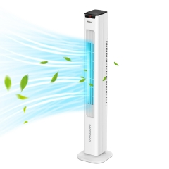 WANAI 2-in-1 Tower Fan Evaporative Air Cooler, 42 inch Portable Oscillating Tower Fan 1.7L Water Tank 3 Wind Speeds 4 Modes 60°Oscillation 15H Timer D